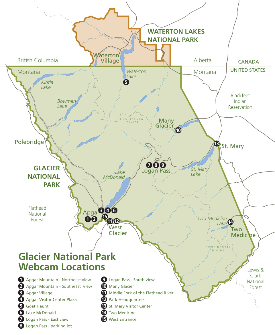 photograph about Printable Map of Glacier National Park named Glacier Nationwide Park Webcams - Glacier Countrywide Park (U.S.